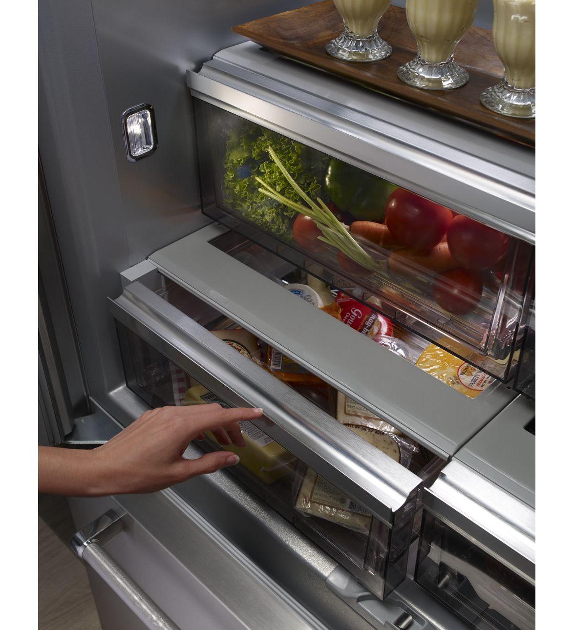 42 kitchenaid 24 2 cu ft width built in stainless - Kitchenaid refrigerator platinum interior ...