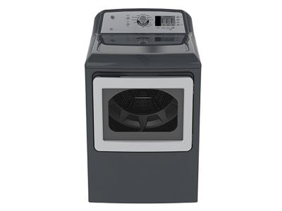 GE Top Load Matching Dryer 7.4 cu ft.capacity DuraDrum2 electric dryer with Sensor Dry - GTD65EBMKDG