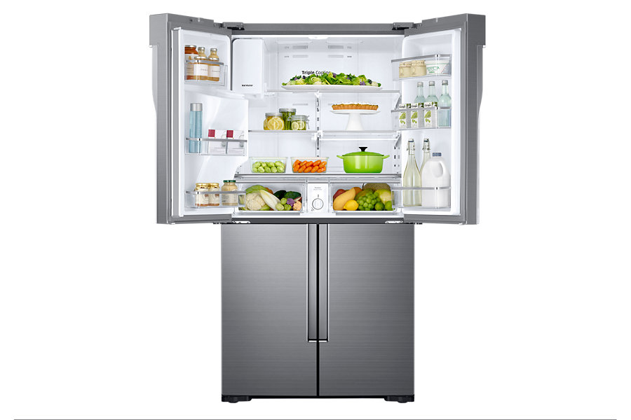 38 Samsung 28 Cuft French Door Refrigerator With Flexzone Rf28k907